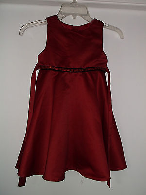 71467d8244ee George Sleeveless Dress w/Petticoat Beaded Waist Red Polyester Girls' Size 5