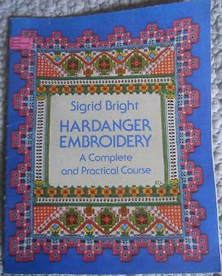 Complete Practical Course In Hardanger Embroidery Pattern Book Sigrid Bright