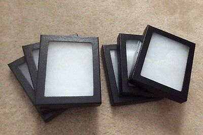 "1 - Box (of 8) 5-1/4 x 6-1/4 x 3/4"" Display Cases (""Riker"" type - Made in USA)"