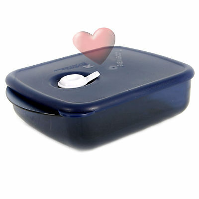 NEW Tupperware Heat N Eat 600ml Nocturnal Blue Microwave container