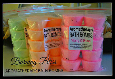 AROMATHERAPY BUBBLE BATH BOMBS (10) Pure,Handmade,Gentle GIFT PACK