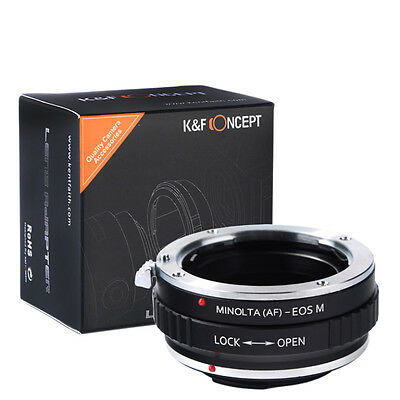 Sony Alpha Minolta AF lens To Canon EOS M EF-M mount Mirrorless Adapter SALE USA