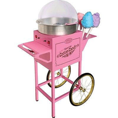 Commercial Cotton Candy Maker Floss Machine w/ Cart & Stand, Nostalgia Electric