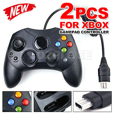 Premium 2x Wired JoyPad Game Controller For Microsoft Original Xbox Gamepad
