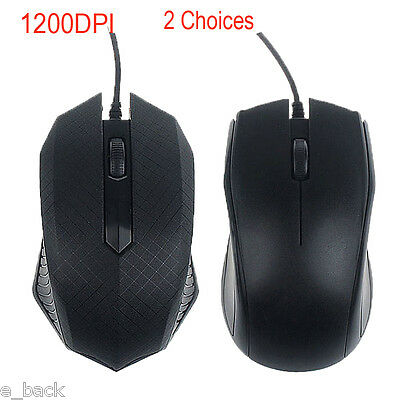 1600DPI Optical USB LED Wired Gaming Mouse Mice For PC Laptop Scroll Wheel Mice