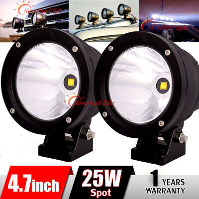 2x 4'' 25W CREE Led Work Light Bar Cannon Spot Beam Roof for Offroad 4WD SUV ATV