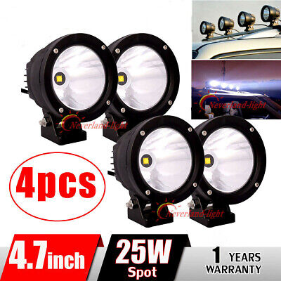 4x 4inch 25W CREE Roof LED Work Light Round Spot Lamp Fog Driving Offroad 4WD