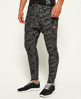 Superdry Mens Gym Tech Slim Joggers Sweatpants Grey or Camo