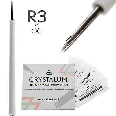 Microblading Blades Shading Needles R3 Eyebrow Manual Tattoo Tool By CRYSTALUM