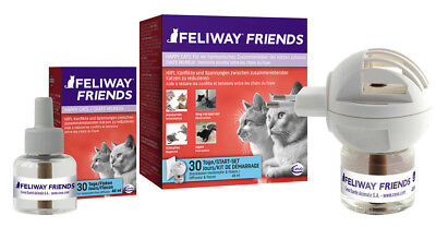 Feliway FRIENDS Starter- Zerstäuber Set plus Refill (Stecker + 2x 48ml Flacon)