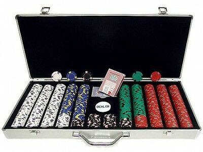 Trademark Poker 650pc 13g Professional Casino Clay Chips With Aluminum Case