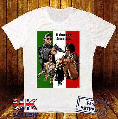 Leon The Professional Stansfield Mathilda Jean Reno Movie Art White T Shirt 491