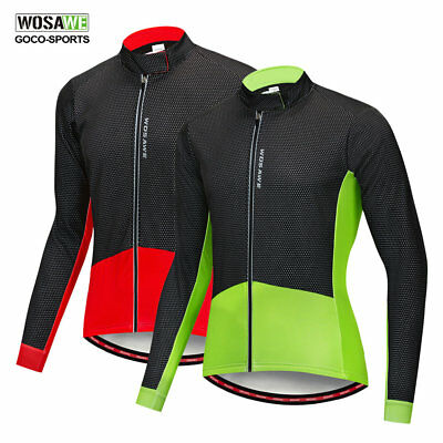 Wosawe Windproof Mens Cycle Jackets Cycling Jersey Winter Thermal Bicycle Coat