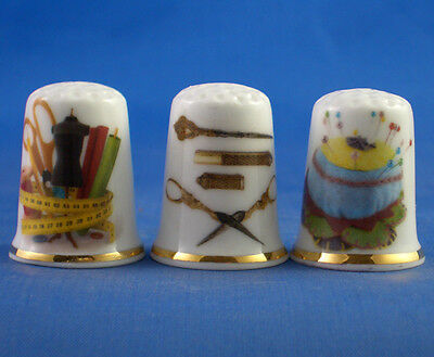 Fine Porcelain China Thimbles - Sewing Tools Collection