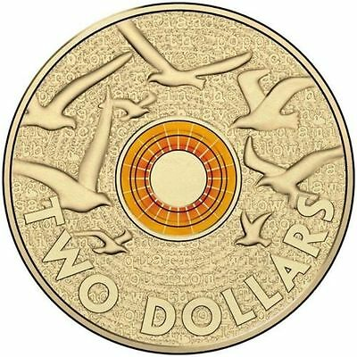 2015 Orange Remembrance Day Coloured $2 Two Dollar Australian Coin