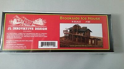 JL Innovative Design - N Scale Building Kit #190 - Brookside Ice House - New