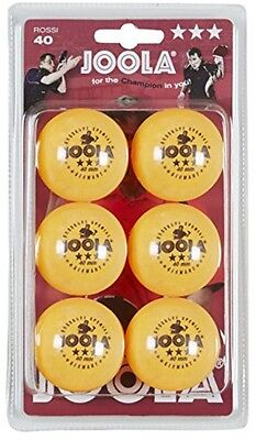 Joola Rosskopf 3 Star Table Tennis Balls - 6 Pack Orange