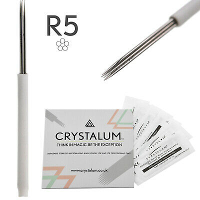 Microblading Blades Shading Needles R5 Eyebrow Manual Tattoo Tool By CRYSTALUM