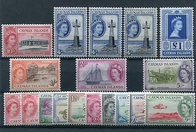 Cayman Islands 1953-62 set + all listed shades SG148/61a+ MLH/MM cat £157