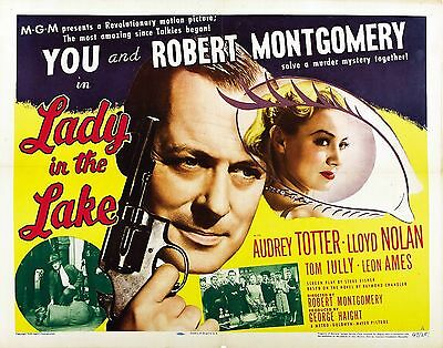 Lady in the Lake Movie POSTER (1947) Mystery/Crime