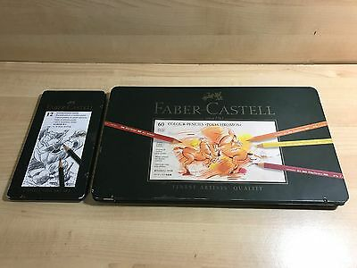 12 Lapices Monocromo 9000 art set + 60 Polychromos Colores Faber-Castell Finest