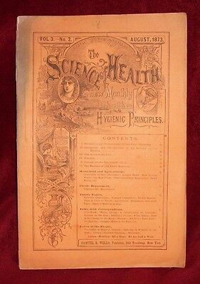 THE SCIENCE HEALTH August 1873 volume 3 number 2 Monthly Magazine