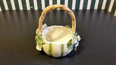 Fitz And Floyd Caprese Market Handled Bowl Vase