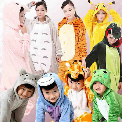 Unisex Kids Boy Girl Pajamas Kigurumi Animal Costume Onesie Sleepwear Halloween
