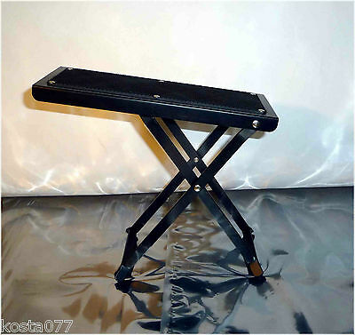 "Guitar Player Foot Stool Rest Stand Adjustable 4.5"" to 9.5"""
