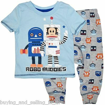 NWT PAUL FRANK / SMALL PAUL Robo Buddies PJ's - sizes 00, 0 & 1 - RRP $50