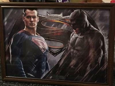 Batman Vs Superman Movie A4 Framed Picture