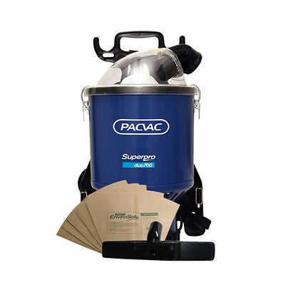 Pacvac Superpro 700 Vacuum Cleaner + 10 Dust Bags + Free Carpet Turnover Tool