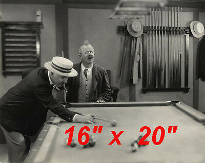 "WC Fields~Pool~Playing Pool~Billiards~Shooting Pool~Poster~16"" x 20"" Photo #2"
