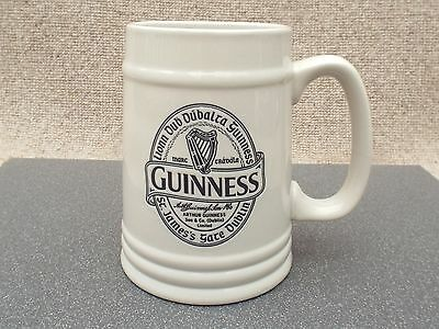 Guinness Ceramic Tankard with Transfer in Irish Gaelic Home Bar Man Cave