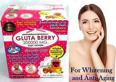 1xGLUTA BERRY  200000 mg   DRINKS FLAVOR PUNCH For Whitening and Anti-Aging