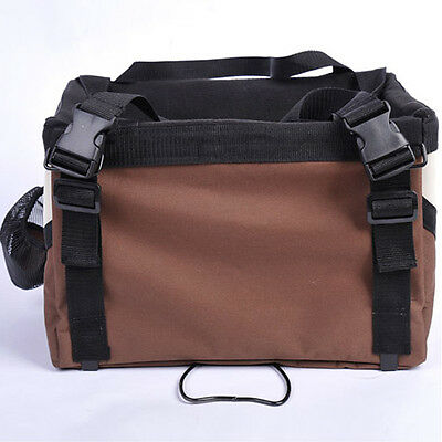 Bicycle Handlebar Small Pet Carrier Bike Basket with Dog Treat Pockets
