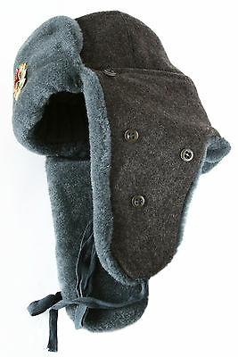 Authentic Soviet Army Arctic circle soldier ushanka winter hat. Made in USSR