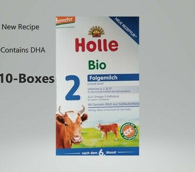 10- Boxes Holle Organic Stage 2 Baby Infant Formula latest Package