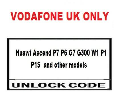 Vodafone UK only Huawei P8 Lite Huawei P9  Unlock Codes  Vodafone UK only
