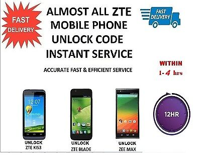 ZTE ZMAX™ Unlock Codes Available here Almost all networks 1-4 hours Reply