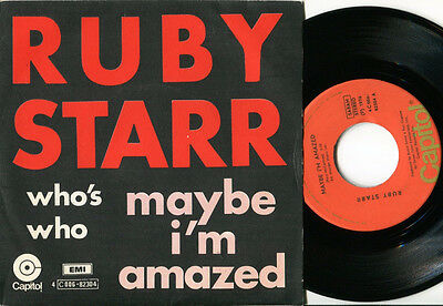 RUBY STARR - Maybe I'm Amazed / Who's Who 45 US 76 GLAM ART ROCK GIRL Belgian PS