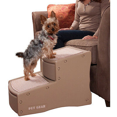 Pet Gear 2 Step Stairs- Tan - SAME DAY DISPATCH