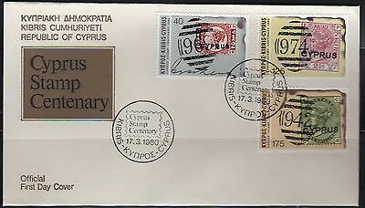 Cyprus - #529-31(3)+532 s/s - FDC