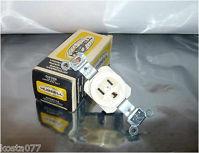 NOS, HUBBELL Precision Devices, Single 125V 15A Receptacle, HBL5610-I