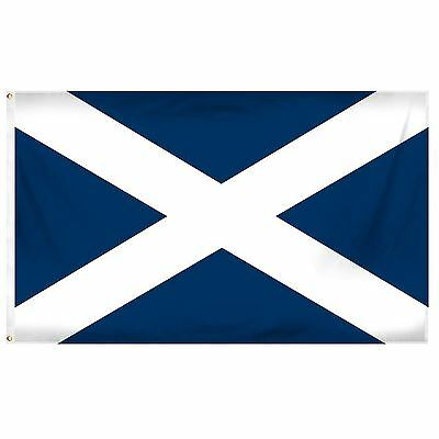 Scotland National Blue Flag 5ft x 3ft Polyester Football Party Decoration