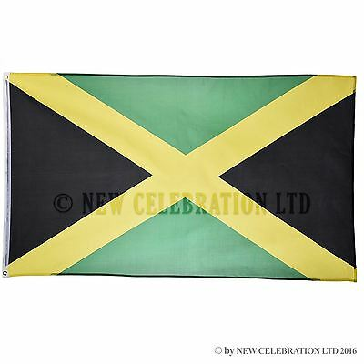 Jamaica National Flag 5ft x 3ft Polyester World Nation Country Flags Decoration