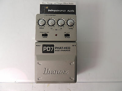 Ibanez Pd7 Phat Hed Bass Overdrive Effects Pedal Free Shipping!!