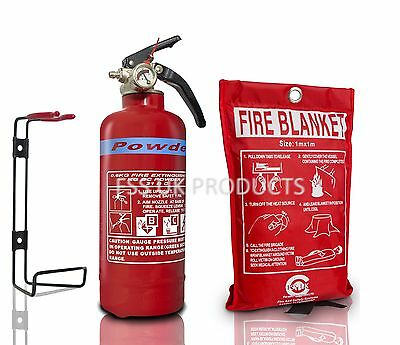 21B DRY ABC Powder Fire Extinguisher 600g+FIRE BLANKET BOAT HOME WORK. KITEMARED