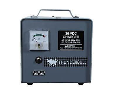 Thunderbull Golf Cart Charger, 36V 20A, With Crowfoot Connector Plug