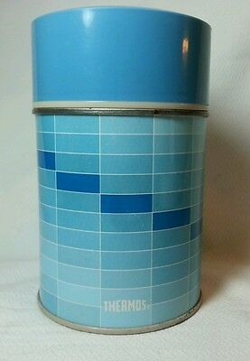 Vintage Thermos King Seeley Soup or Drink 10oz Blue Pattern